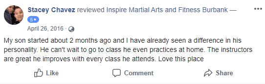 Kids 2, Inspire Martial Arts & Fitness Burbank CA